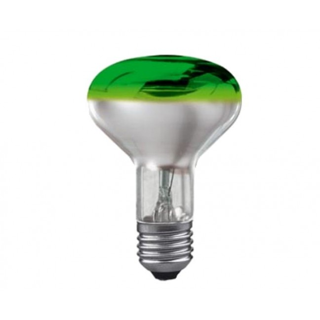 Эл.лампа Osram Соnс R80/60/E27 зел ., лампочка