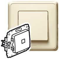773710 ВСП-1 10А Выключатель с подсветкой сл. кость Карива
