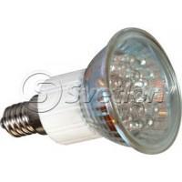 Эл.лампа JDR 220 V 1.34W Е14 LED 18 зеленый, лампочка