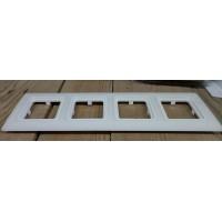 Рамка 4-кратная 1892 белый лёд 29000402