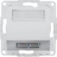Розетка телеф. двойная 2*RJ12 белая 12004802