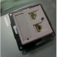 Розетка компьют. двойная 2*RJ45 Molex белая 12005102
