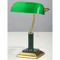 V2900/1L  зелен. мрамор Наст.лампа