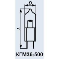Эл.лампа КГМ 36-500, лампочка