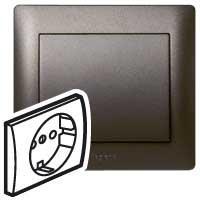 771220 G.life Накладка розетки 2к+з со шт. Dark Bronze