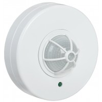 Датчик движ.ДД024 белый 1100W угол обзора 120-360гр.дальность 6м,IP33 ИЭК
