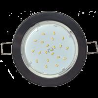 Светильник GX 53 DGX5315 Экола 18*100 черный(встр.легкий) (FB53EFECD)