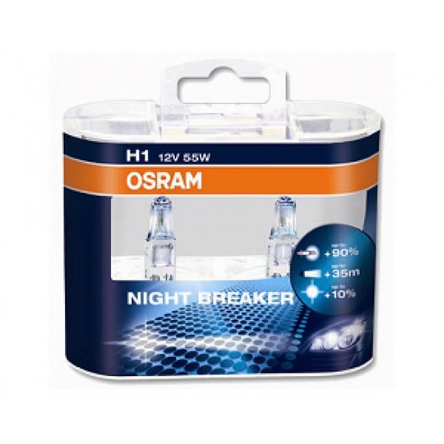 Эл.лампа 64150NBU(NBR,NBP) Osram AUTO NIGHT BREAKER 55W 12V H1 ., лампочка
