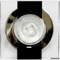 C2021RBK прозрачный и черный светильник со стеклом под галоген. лампу G5.3