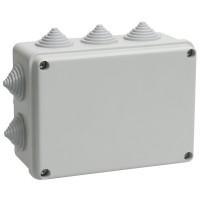Коробка КМ41242 распаячная для о/п 150*110*70мм IP55 (RAL7035, 10 гермовводов)