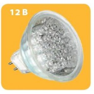 Эл.лампа  MR16  12V  0,9W  18LED  GU5.3  зеленый,