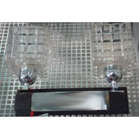 INL-9200W-02 chrome.wengue wood, clear glass  Бра