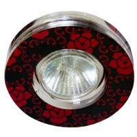 CD6035 круг чер.,красный/хром 50W MR16 (SC869R)