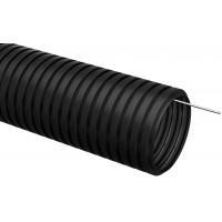 Труба гофр.ПНД d 16 с зондом (100 м ) ИЭК черный