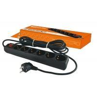 Сетевой фильтр СФ-06В выкл., 6гн., 3 м., с заземл., ПВС 3*1 мм2 16А/250В TDM