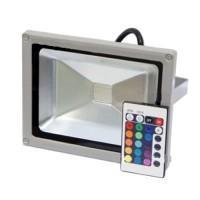Прожектор светодиодный PFL-10W/RGB-RC/GR IP65 Jazzway