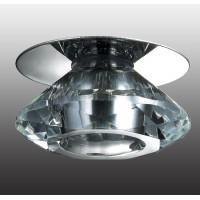 357009 NT 101 хром/прозрачный Встраиваемый  1W LED 220 CRYSTAL-LED