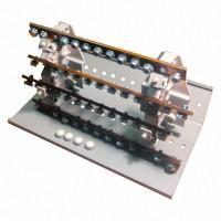 РБ-250 4П 250А (4шины 10*М6+1*М8) Распределительный блок на Din-рейку TDM