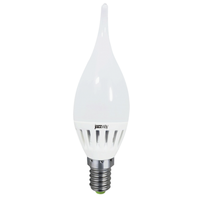 Лампа светодиод.PLED-ECO CA37 свеча на ветру 3,5W(3W) 230V E14 4000К  250lm  Jazzway, лампочка