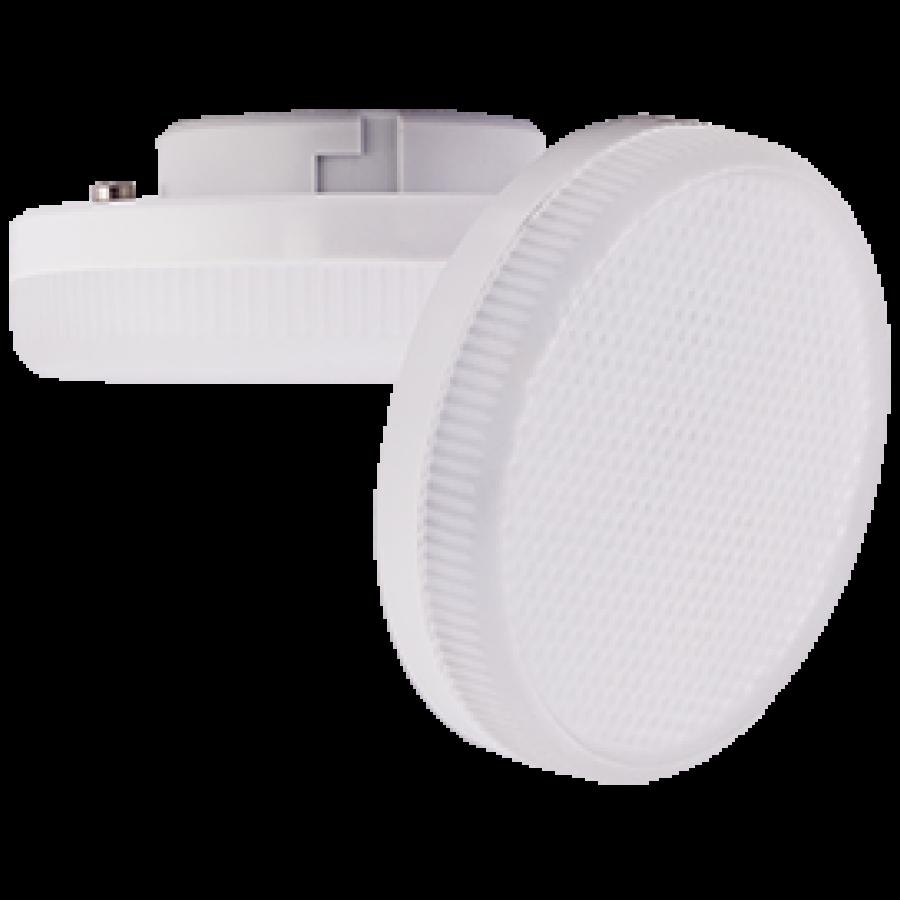 Лампа светодиод.GX53 LED 6W 220V 2800К мат.стекло 27*75(T5QW60ELC,T5LW60ELC), лампочка