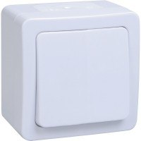 ВСп20-1-0-ГПБ выкл.1кл.проход. IP54(белый) откр.уст.ГЕРМЕС PLUS