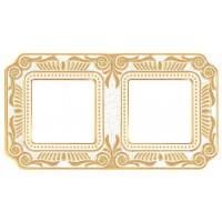 FD01362OP Рамка 2 пост FIRENZE гор/верт, цвет Gold White Patina