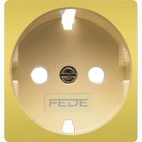 FD04314OR-A Обрамление розетки 2к+з цвет real gold