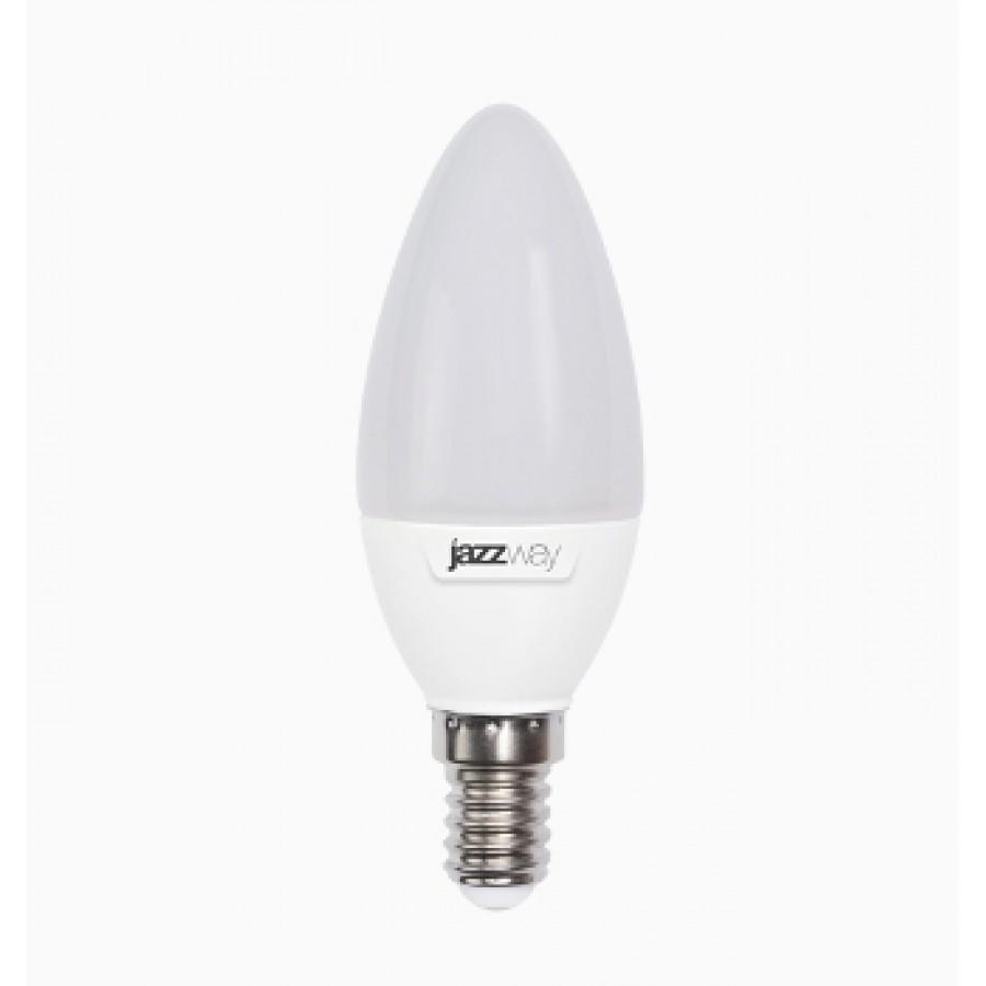 Лампа светодиод.PLED-SP свеча 7W 230V E14 5000К 560lm(4000К-530lm)  Jazzway, лампочка