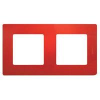 672532 Рамка 2поста цвет красный ETIKA