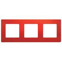 672533 Рамка 3поста цвет красный ETIKA