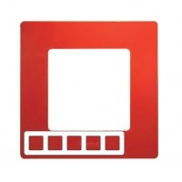 672535 Рамка 5постов цвет красный ETIKA