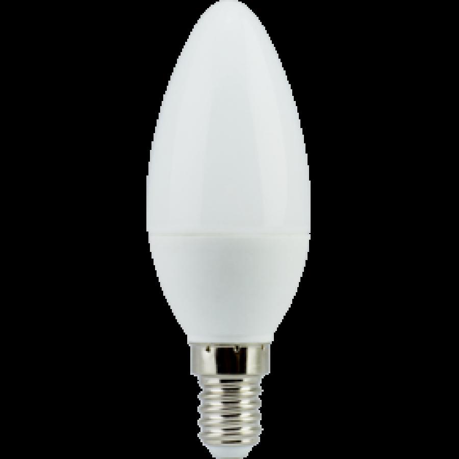 Лампа светодиод.candle LED 6,0W 220V E14 4000К 101*37 свеча(C4LV60ELC), лампочка