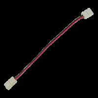 Коннектор LED strip каб.  2 разъема 2-х конт. 8мм 15см для одноцв. ленты (3528-60) (SC28C2ESB)