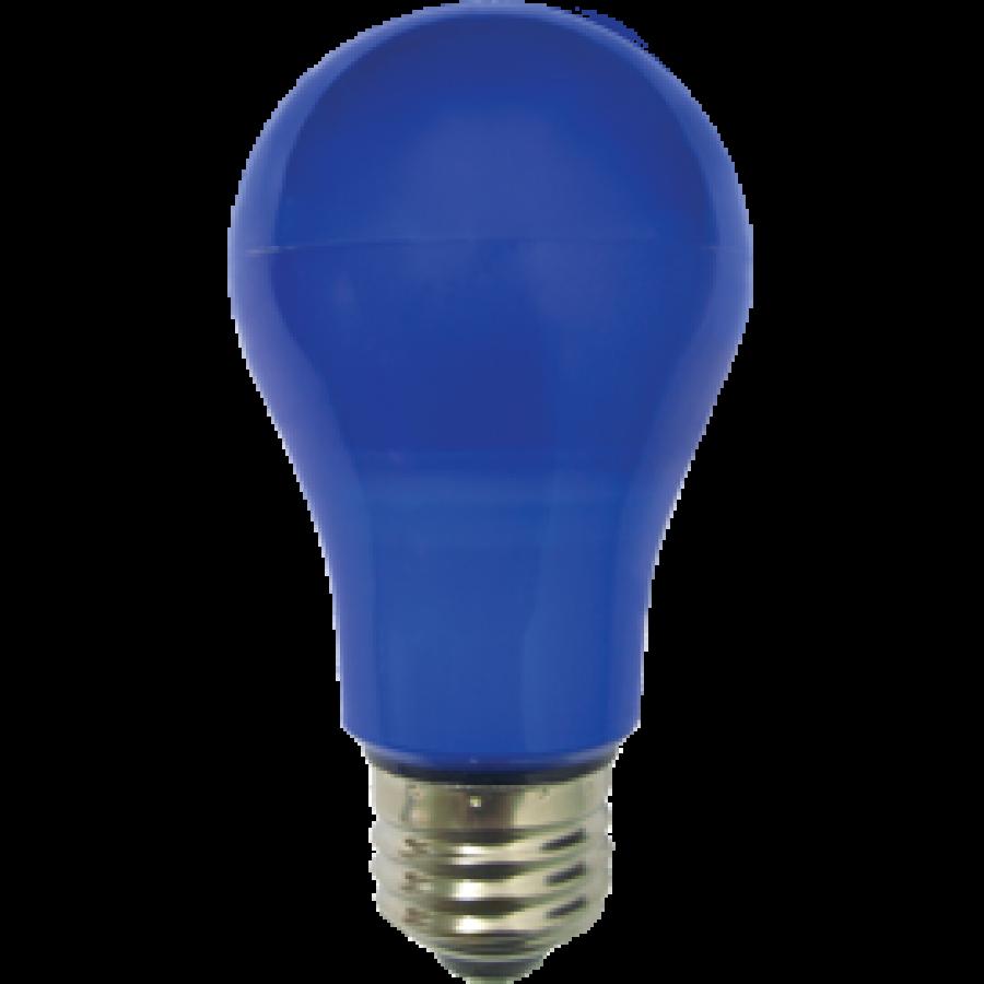 Лампа светодиод.classic А55 LED 8W 220V E27 синяя 108*55 (K7CB80ELY), лампочка