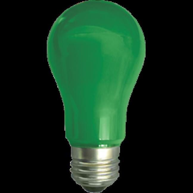 Лампа светодиод.classic А55 LED 8W 220V E27 зеленая 108*55 (K7CG80ELY), лампочка