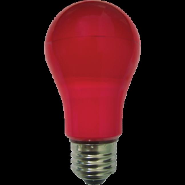 Лампа светодиод.classic А55 LED 8W 220V E27 красная 108*55 (K7CR80ELY), лампочка