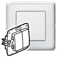 773608 ВСП-1 10А Переключатель на 2 направ. 2 клав. бел. Карива