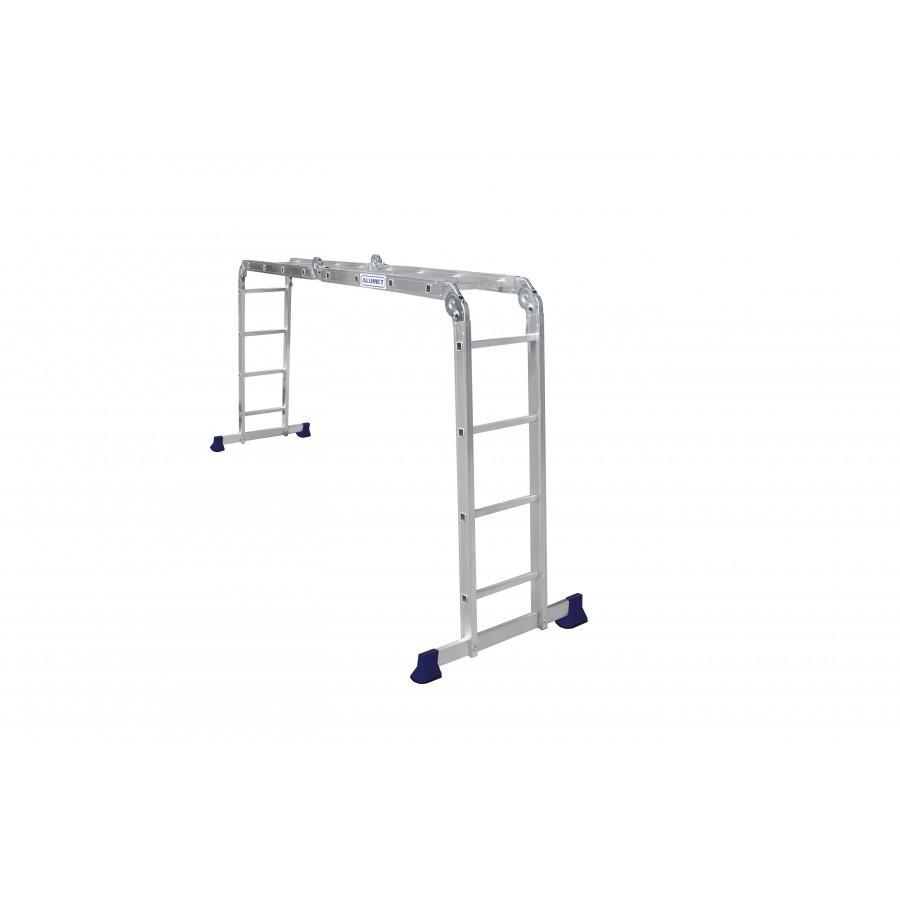 Лестница-трансф. ал. 4х4 (122х235х458) 12,2кг TL4044