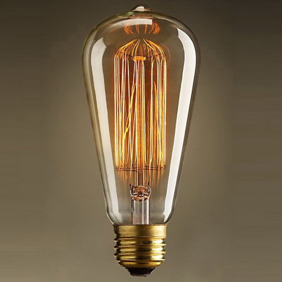 GF-E-764 Лампа декоративная Е27 60вт 14*6 (Ретро), лампочка
