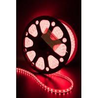 Лента LED.влагозащ.IP68, красная 4.8вт/м 240V, SWG,3528/60