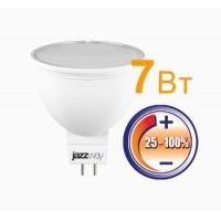 Лампа светодиод.PLED-DIM -JCDR  7W 230V GU5.3 3000К 500lm  Jazzway, лампочка