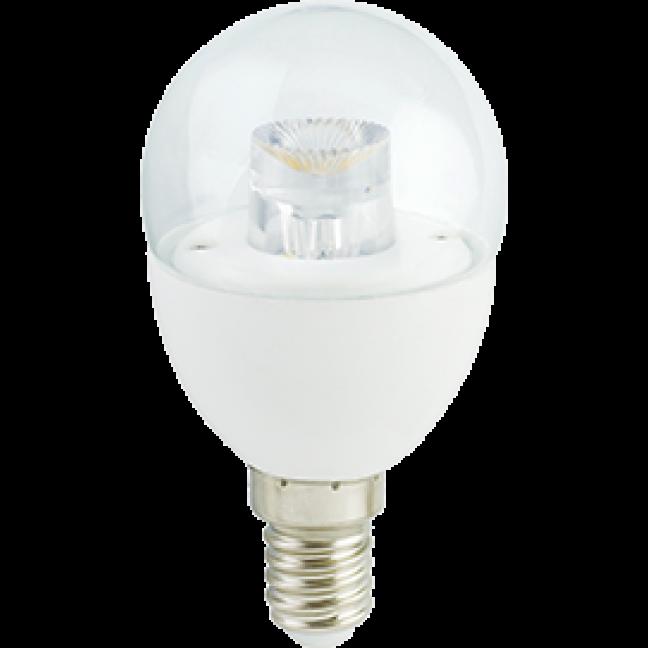 Лампа светодиод.globe G45 LED 7,0W 220V E14 4000К 90*45 прозр.шар с линзой(K4FV70ELC) Premium, лампочка