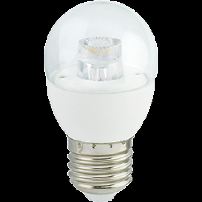 Лампа светодиод.globe G45 LED 7,0W 220V E27 4000К 84*45 прозр.шар с линзой(K7FV70ELC) Premium, лампочка