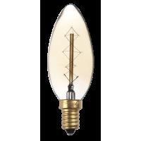 Лампа декор.свеча Е14 40вт C35 (Ретро), лампочка