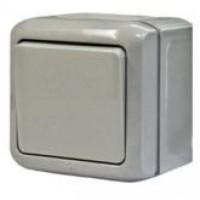 782330 Выключатель 10А 1кл Quteo IP44 Сер.