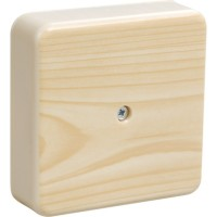 Коробка КМ41216-04 распаячная для о/п 75*75*28мм сосна (с конт. гр.)