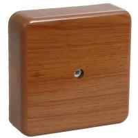 Коробка КМ41216-05 распаячная для о/п 75*75*28мм дуб (с конт. гр.)