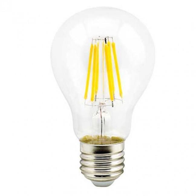 Лампа светодиод.classic А60 LED 8W 220V E27 2700К 360гр филамент прозр 105*60(N7LW80ELC) Premium, лампочка