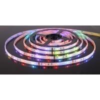 Лента LED.влагозащ.IP65, RGB,7.2Вт/м,220В,ЭС(30свд/м) 5050/30