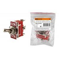 Переключатель-тумблер 1122 (П2Т-1) вкл-откл-вкл 1 гр.контактов TDM